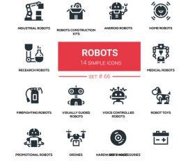 Roboots icon vector