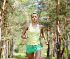 Running beauty Stock Photo