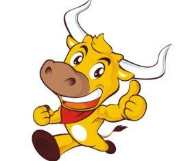 Running cow vector