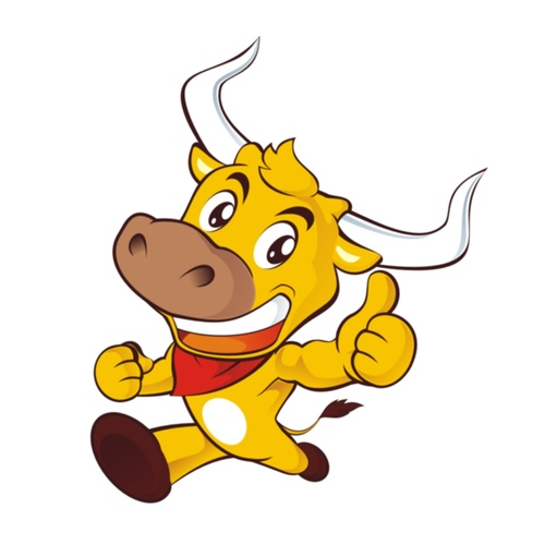 Running cow vector