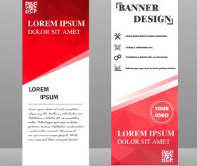 Scrolls business banners template vectors set 06