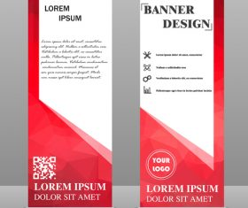 Scrolls business banners template vectors set 07