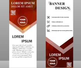 Scrolls business banners template vectors set 08
