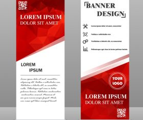Scrolls business banners template vectors set 09