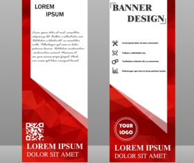 Scrolls business banners template vectors set 10