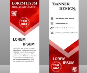 Scrolls business banners template vectors set 12