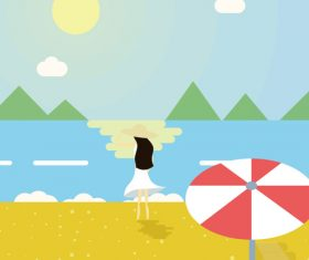 Seaside cool vector illustration