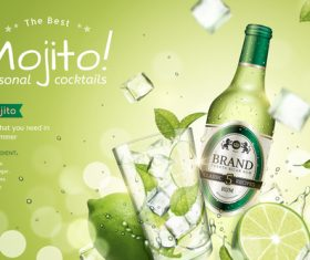 Seasonal cocktails poster design vector 03