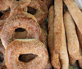 Sesame bread Stock Photo 02