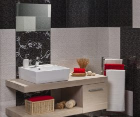Simple modern bathroom Stock Photo 02
