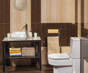 Simple modern bathroom Stock Photo 05