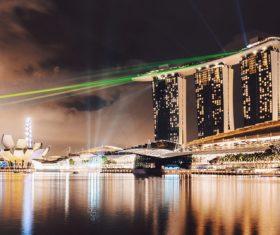 Singapore lights Stock Photo