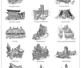 Skyrim Cartography Photoshop Brushes