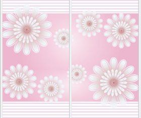 Sliding door pattern decoration material vector 02