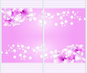 Sliding door pattern decoration material vector 04