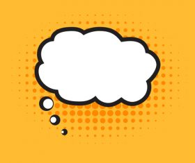 Speech bubble cloud vector design 01