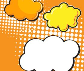 Speech bubble cloud vector design 02