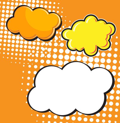 Speech bubble cloud vector design 02