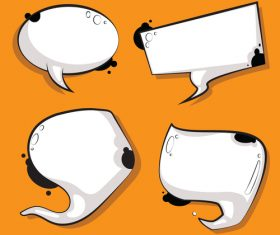 Speech bubble white cow vector