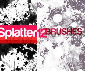 Splatter Photoshop Brushes set