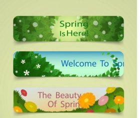 Spring theme banner vector