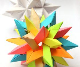 Stock Photo Colorful Modular Origami Ball 01