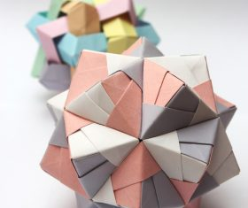 Stock Photo Colorful Modular Origami Ball 02