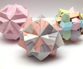 Stock Photo Colorful Modular Origami Ball 03