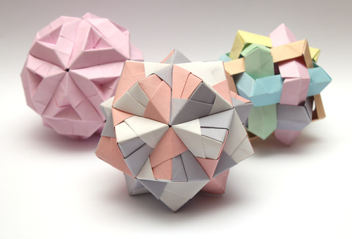 Stock Photo Colorful Modular Origami Ball 03 Free Download