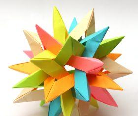 Stock Photo Colorful Modular Origami Ball 04