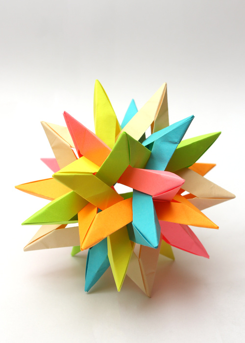 Stock Photo Colorful Modular Origami Ball 04 Free Download