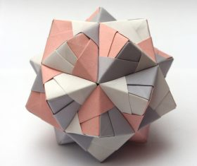 Stock Photo Colorful Modular Origami Ball 05