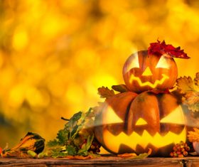 Stock Photo Halloween decorative design of pumpkin 05