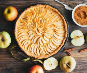 Stock Photo Homemade delicious apple pie tart 01