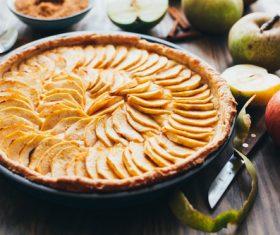 Stock Photo Homemade delicious apple pie tart 02