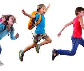 Stock Photo Jumping children 01