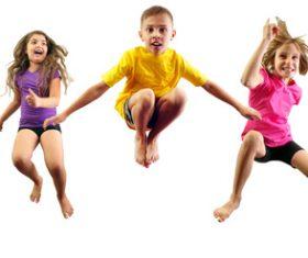 Stock Photo Jumping children 02