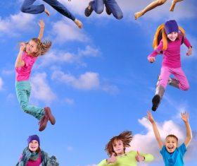 Stock Photo Jumping children 03