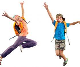 Stock Photo Jumping children 04