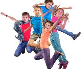 Stock Photo Jumping children 05