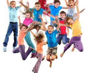 Stock Photo Jumping children 06