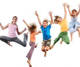 Stock Photo Jumping children 07