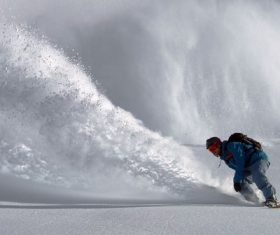 Stock Photo Ski character photography splashing snow