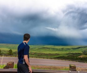 Stock Photo Storm chaser