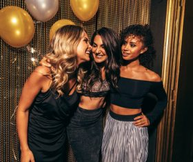 Stylish girls enjoying party at nightclub Stock Photo 06