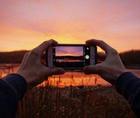 Sunset capture Stock Photo
