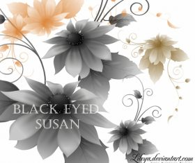 Susan flower Photoshop Brushes