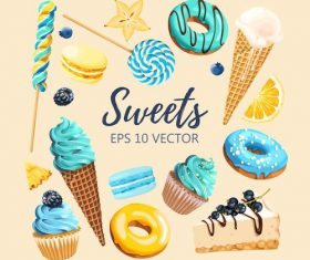 Sweet food vector background material