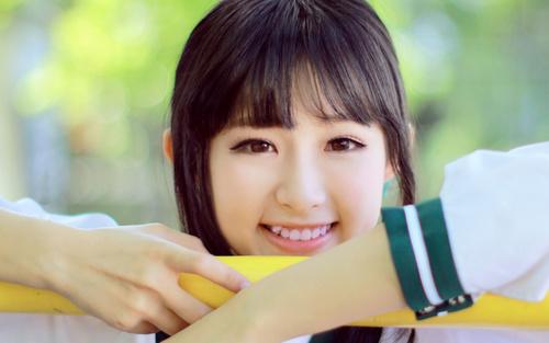 Sweet smiling girl Stock Photo