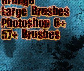 Textured grunge Photoshop Brushes
